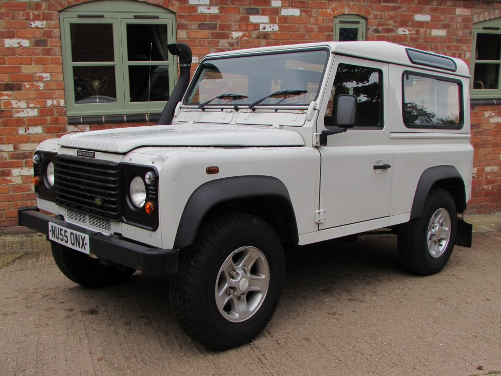 Landrover Defender 90 County Station Wagon 2005 White M G Landrovers 1975 Land Rover